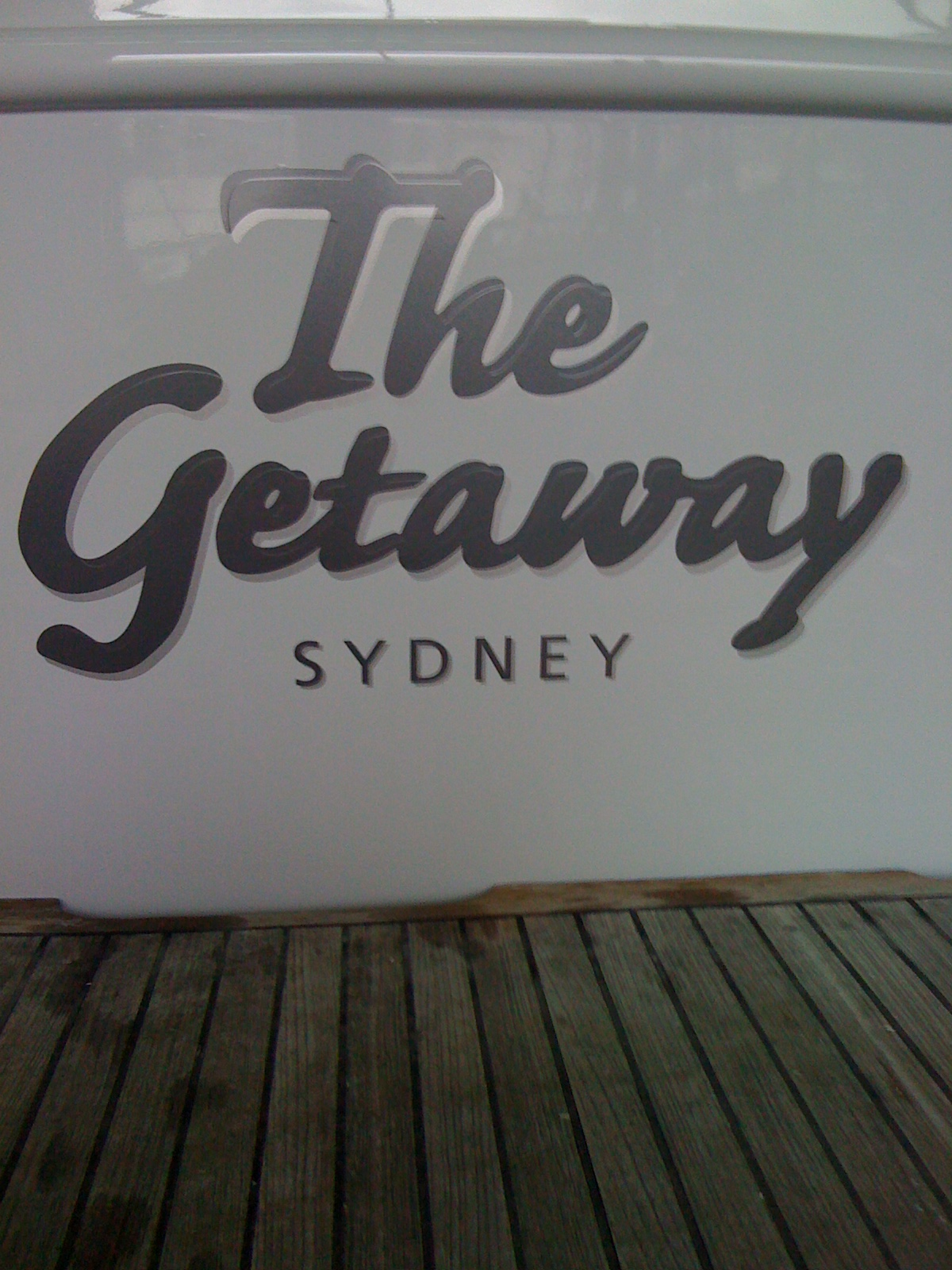 Jmac Graphics, Signage, Outdoor, Wrapping Boat, The Getaway Sydney