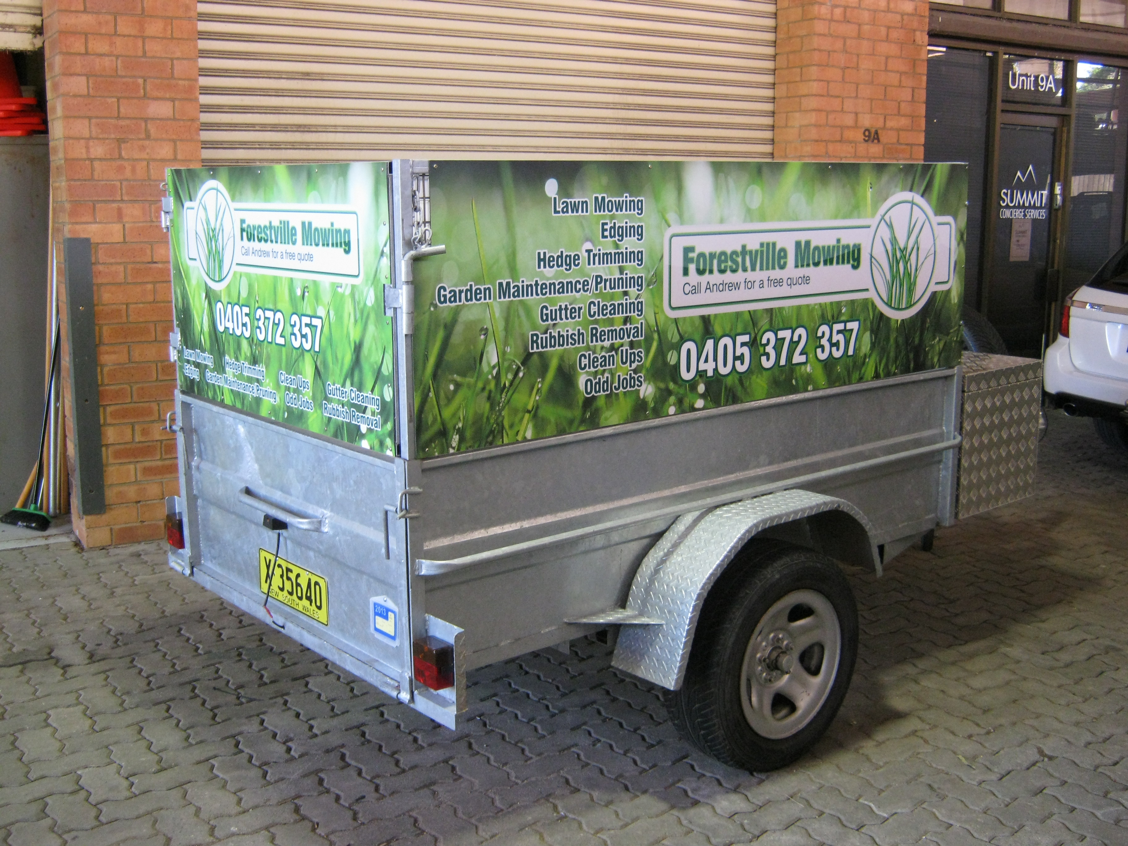 Jmac Graphics, Signage, Outdoor, Wrapping Car, Wrapping Trailer, ForestvilMowing