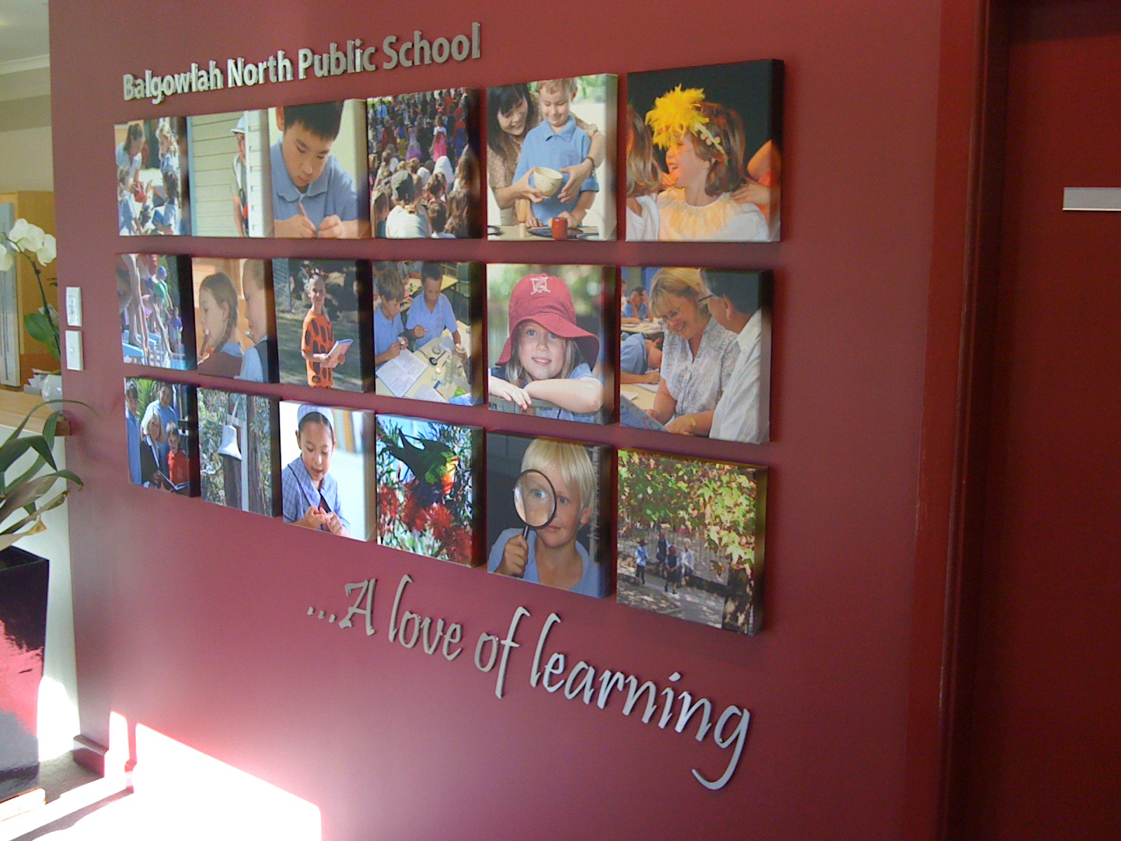 Jmac Graphics, Signage, Indoor, Fabric Printing, Office, Canvas, 3D, Balgowlah North Public School