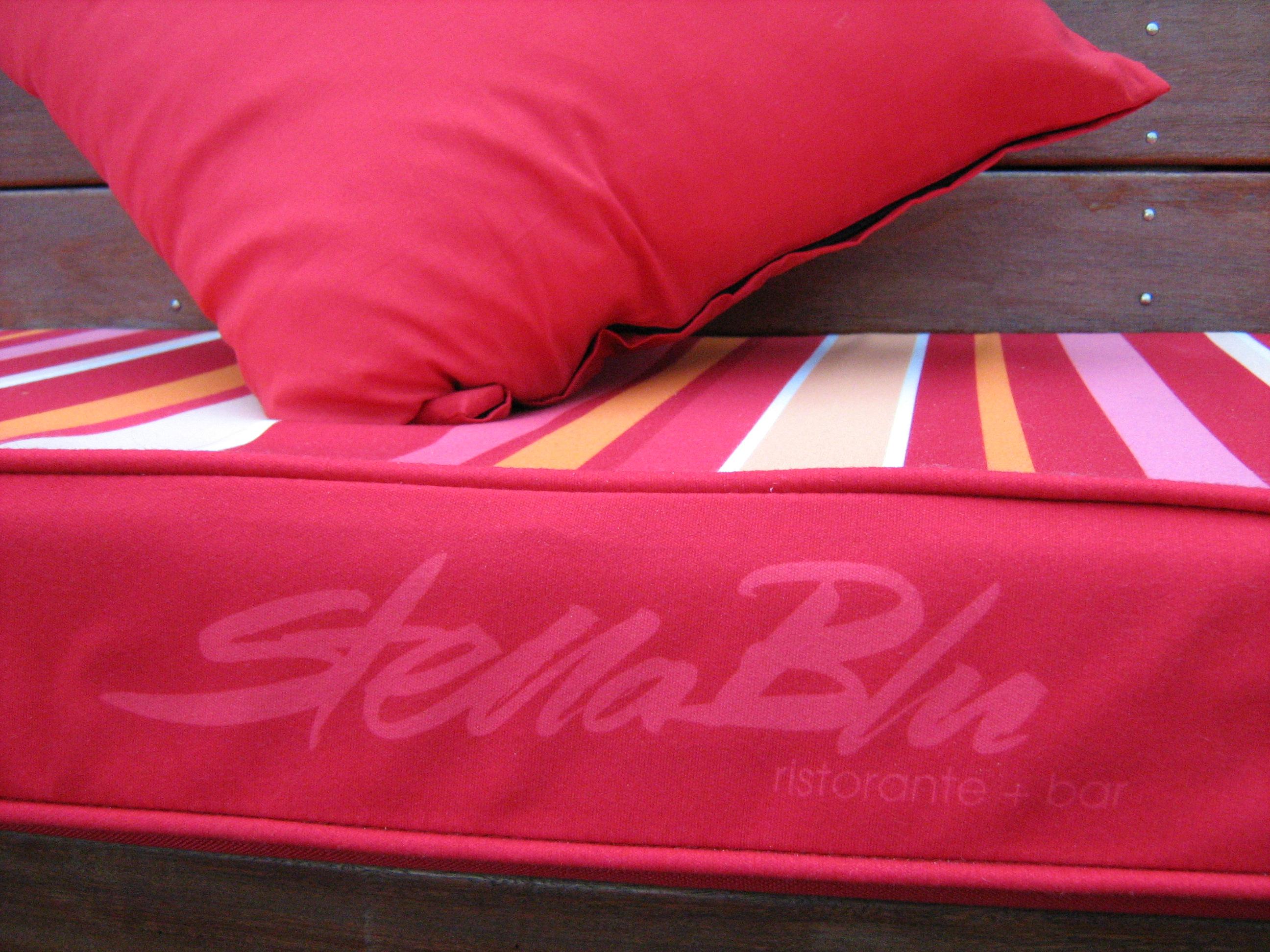 Jmac Graphics, Signage, Outdoor, Fabric Printing, Custom Cushions, Stella Blu