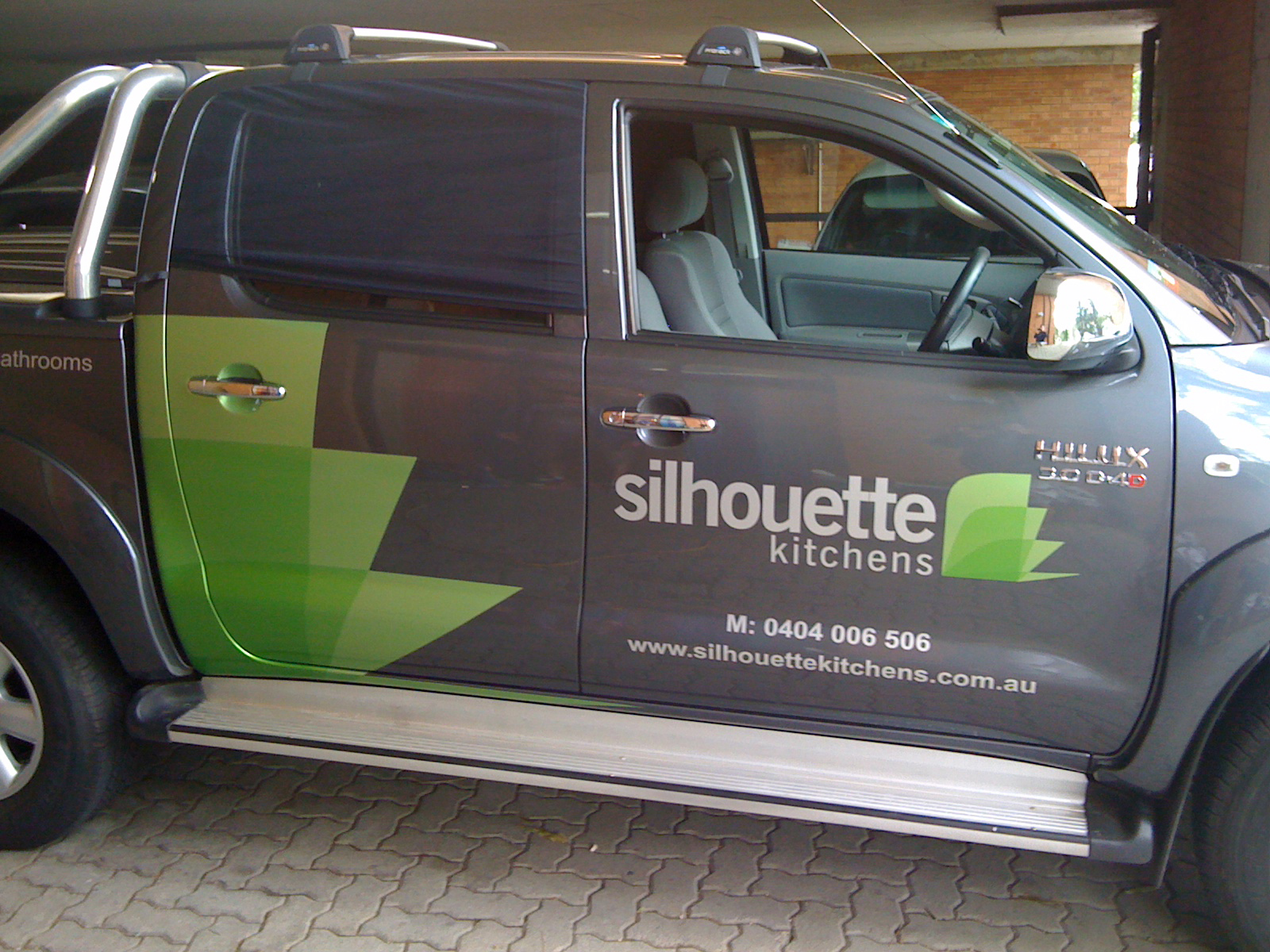 Jmac Graphics, Signage, Outdoor, Wrapping Car, Wrapping Ute. Silhouette Kitchens