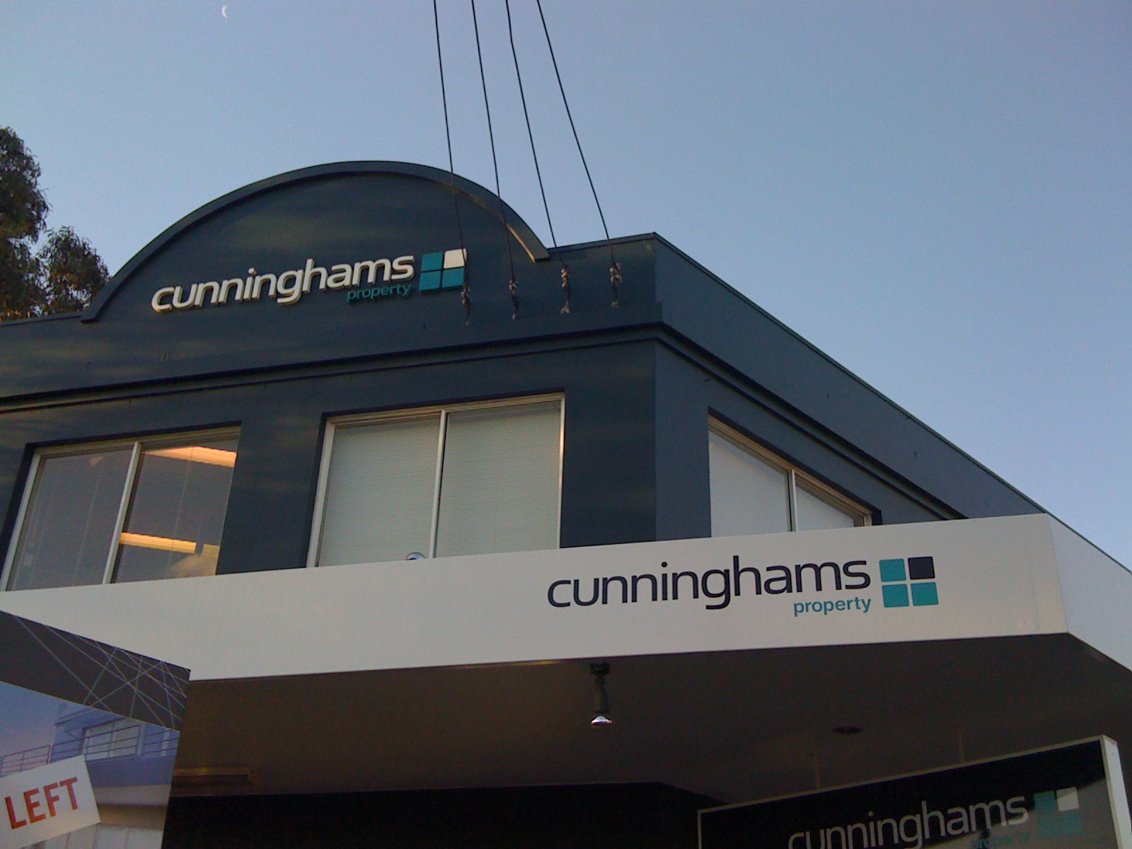 Jmac Graphics, Signage, Outdoor, Building, Awning, Lightbox, Cunninghams property