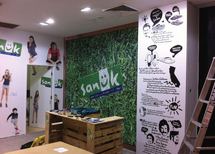 Jmac Graphics, Signage, Indoor, Office, Wall Graphics, Sanuk