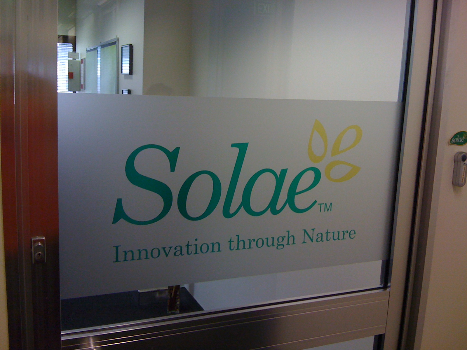 Jmac Graphics, Signage, Indoor, Office, Frosting, Solae