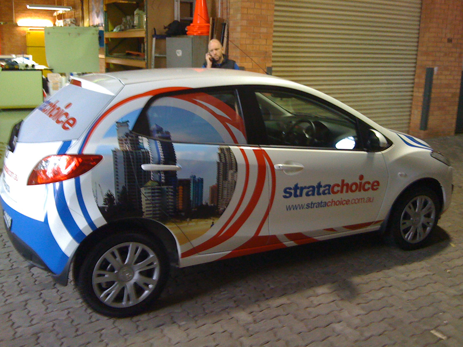 Jmac Graphics, Signage, Outdoor, Wrapping Car, Strata Choice