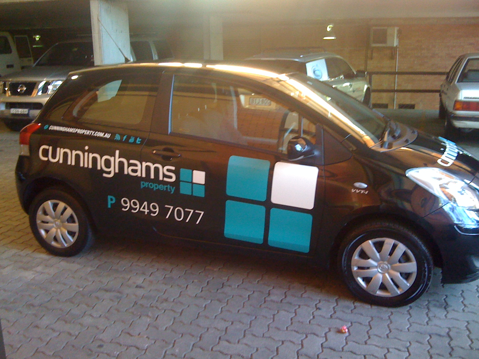 Jmac Graphics, Signage, Outdoor, Wrapping Car, Cunninghams Property