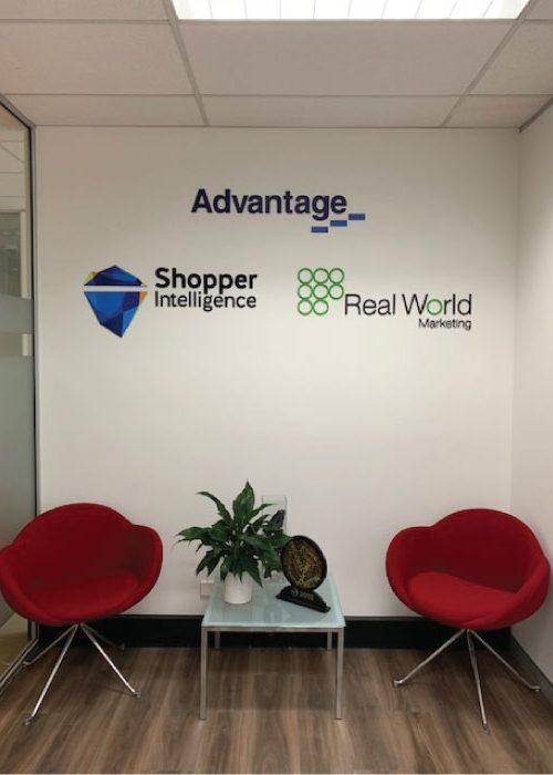 Jmac Graphics, Signage, Indoor, Office, 3D, Advantage-Group